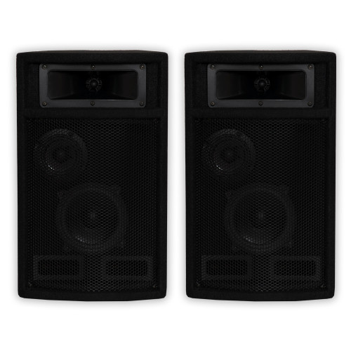 PA-500X Passive 800 Watt 3-Way Speaker Pair DJ PA Karaoke Studio Speakers