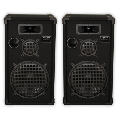 """E1200C Passive Speakers 12"""" Pair 3 Way PA DJ Karaoke Home"""