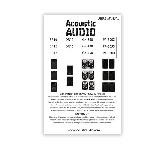"""Acoustic Audio BR12 Passive 12"""" Speaker Pair and Stands 3-Way DJ PA Karaoke Speakers"""