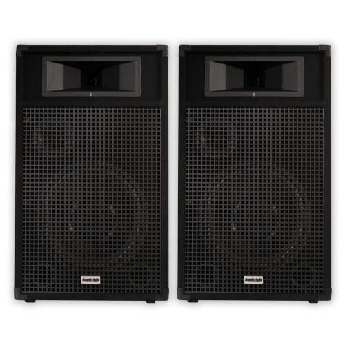 """BR12 Passive 12"""" Speaker Pair 3 Way DJ PA Karaoke Band Speakers"""