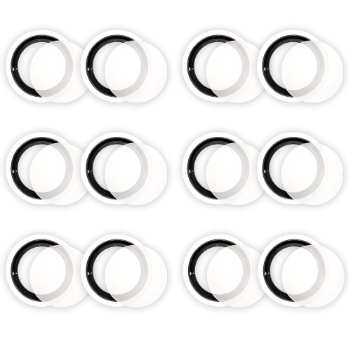 8CFG Frames and Grills for 8 Inch In Ceiling Speakers 6 Pair Pack