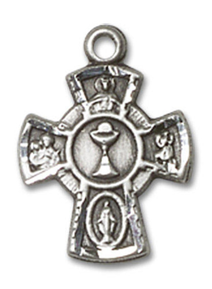 Communion Chalice 5-Way Medal - Sterling Silver Pendant 0845SS