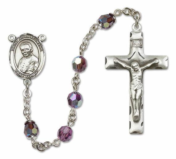St John Neumann Sterling Silver Rosary - 16 Color Options 8204/0644