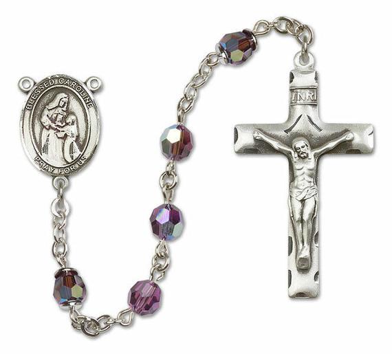 Blessed Caroline Gerhardinger Sterling Silver Rosary - 16 Color Options 8281/0644