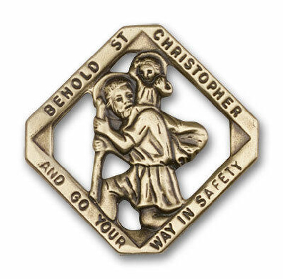 St Christopher Visor Clip - Gold Finish 1025VG