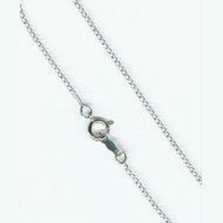 20 Sterling Silver Light Chain With Clasp 1.20Mm Thick