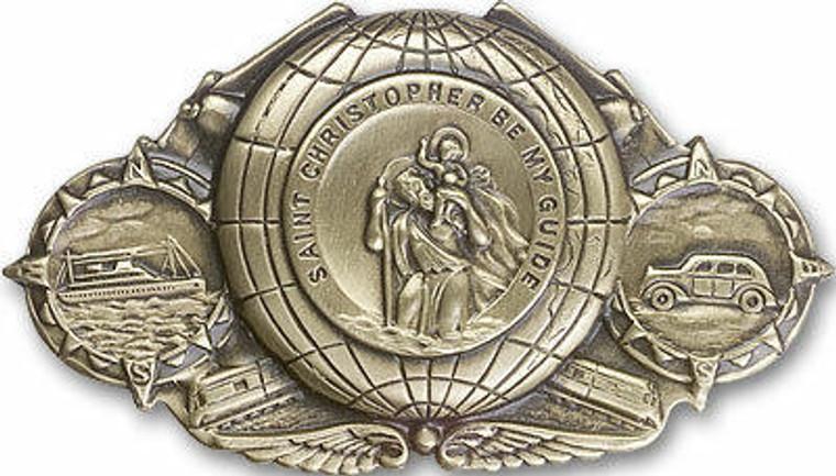 St Christopher Visor Clip - Gold Finish 1019VG