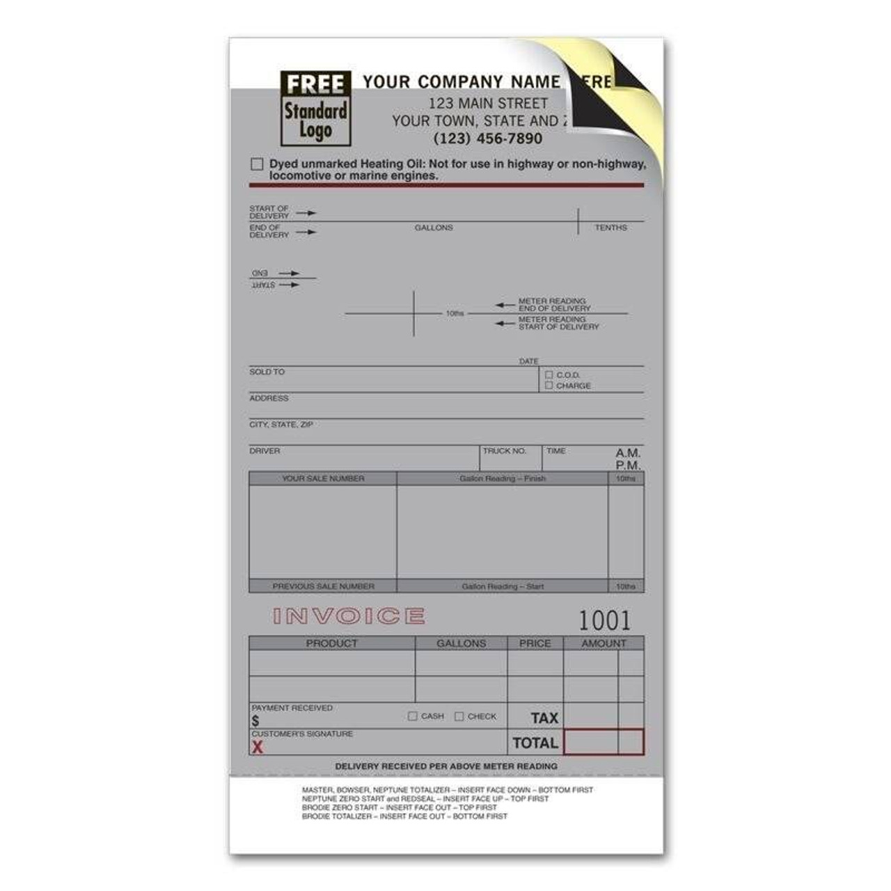 Fuel Meter Tickets with Carbons