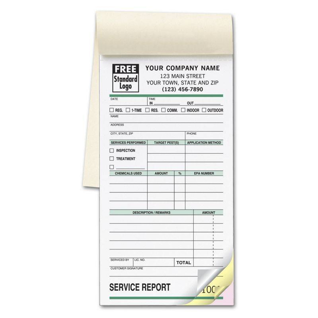 Pest Control Form - Small Service Order Book
