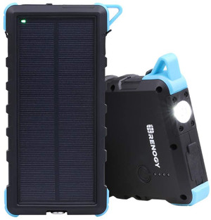 Renogy 15000mAh Solar Power Bank Dual USB Phone Charger