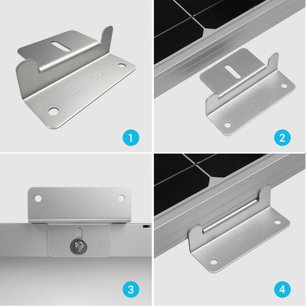 Renogy Solar Panel Mounting Z Bracket -- Set of 4