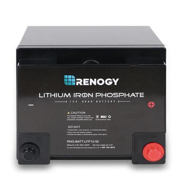 Renogy Lithium Iron Phosphate Battery 12 Volt 50 Ah