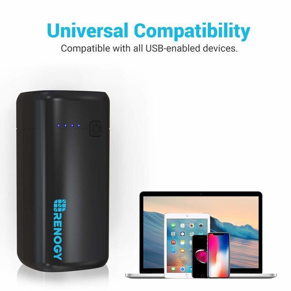 Renogy 20000mAh Power Bank World's Smallest USB Phone Battery Charger