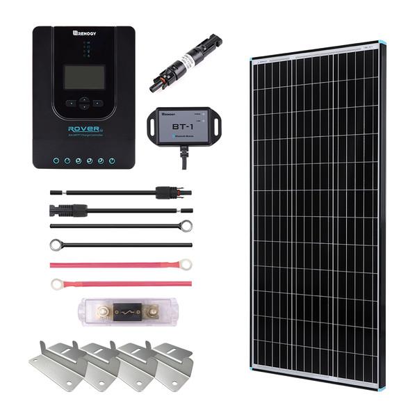 100W Premium Solar Kit Black Frame Solar Panel