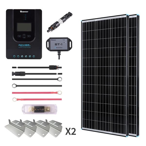 200W Premium Solar Kit Black Frame Solar Panel