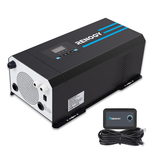 2000W 12V PURE SINE WAVE INVERTER CHARGER W/ LCD DISPLAY