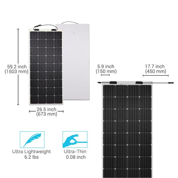 175 Watt 12 Volt Flexible Monocrystalline Solar Panel