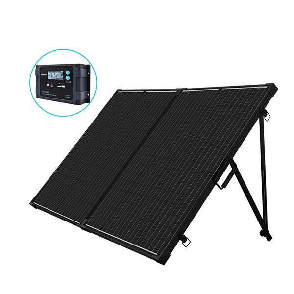 200 Watt 12 Volt Monocrystalline Foldable Solar Suitcase