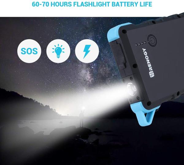 Renogy 15000mAh Solar Power Bank Dual USB Phone Charger