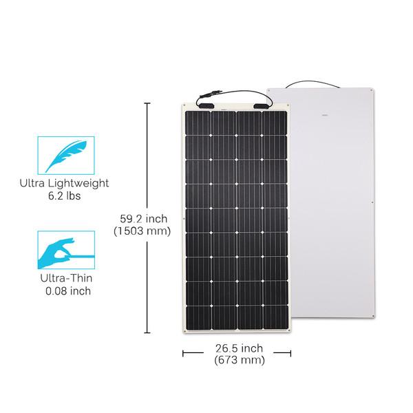 Lightweight solar panels