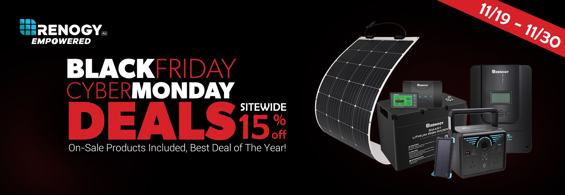 Take 15 Off On Black Friday Deals Renogy Australia High Quality Solar Products