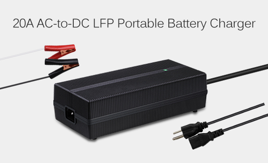 20A AC to DC LFP Portable Battery Charger