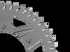 Vortex Sprocket Silver Aluminum Rear 642A