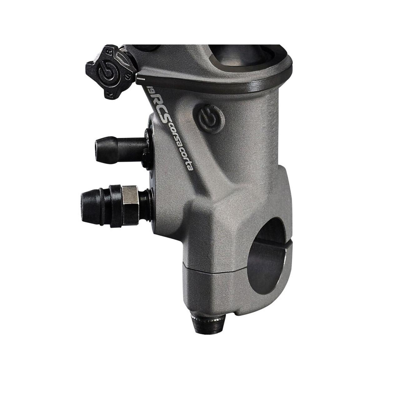 Brembo 17 RCS brake master cylinder side detail