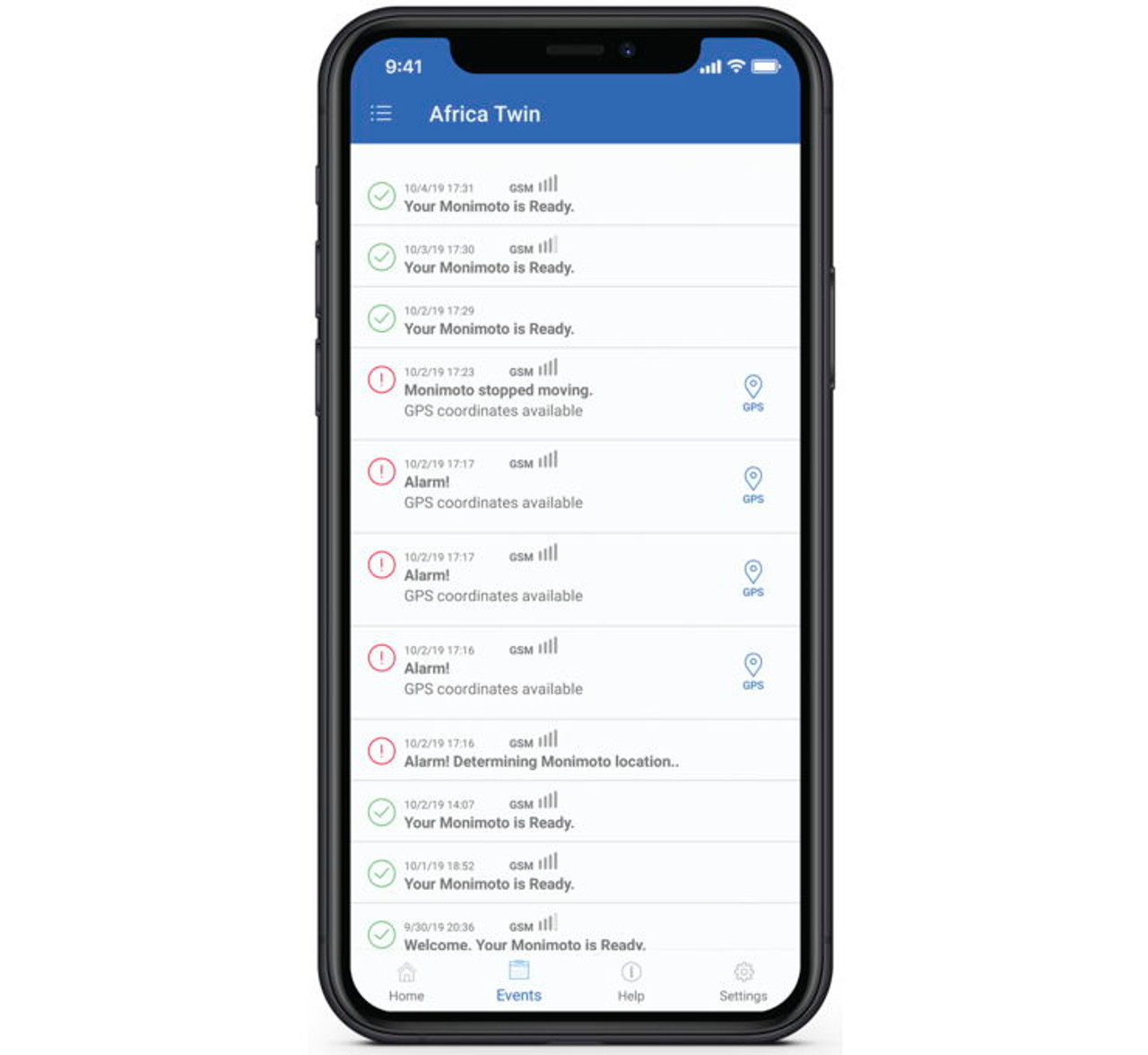 Monimoto GPS Anti-Theft Tracker Cell Screen