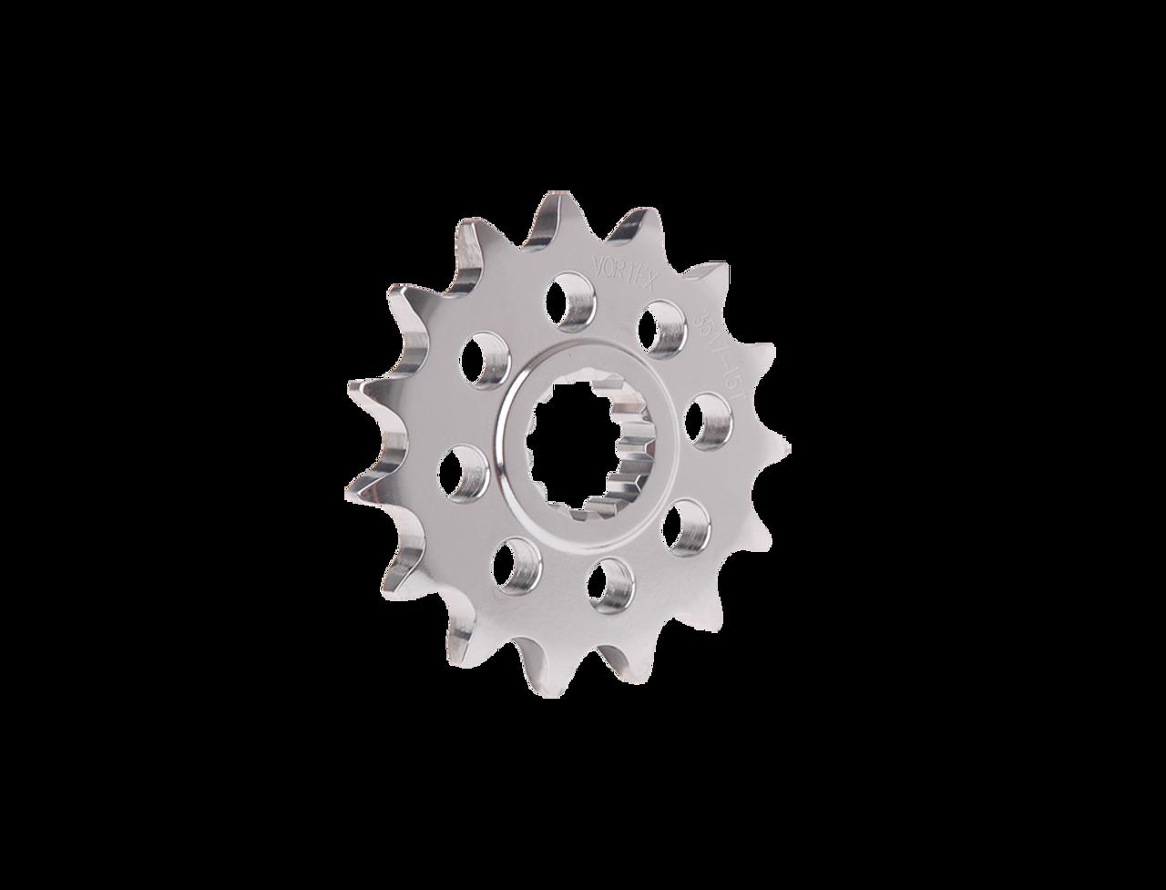 Vortex Sprocket Silver Aluminum Front 3521