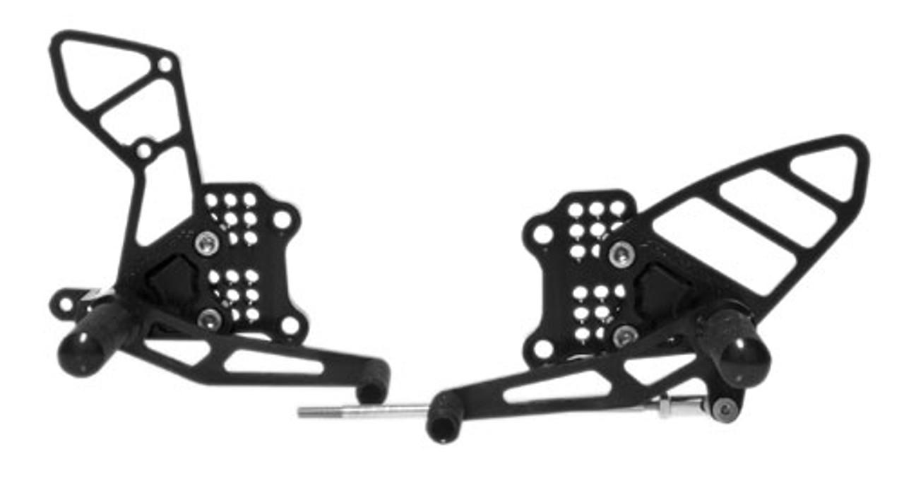 VORTEX REAR SET ADJUSTABLE BLACK - FZ1/FZ8 RS684K