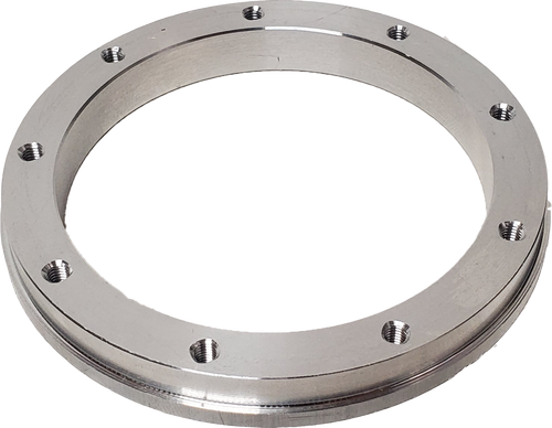 Aluminum flange for IMS Dry Break receiver, bottom