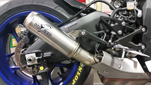 GRAVES MOTO1 CAT BACK EXHAUST YAMAHA YZFR1/R1M