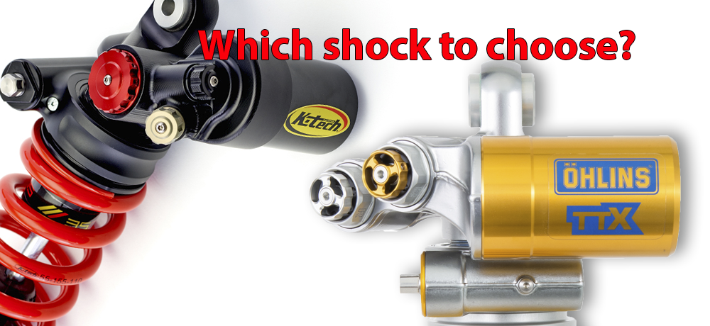 Major differences between Ohlins TTX GP and K-Tech DDS shocks