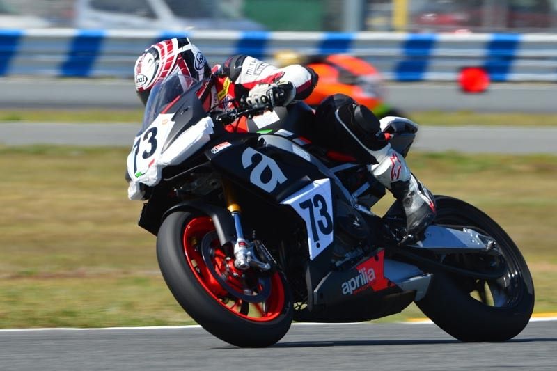 Racing the Aprilia RS660 at Daytona