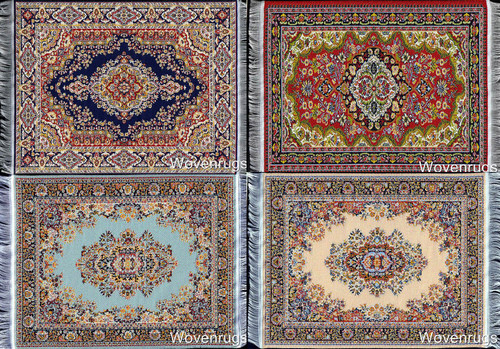 Toy Furniture 1 Scale Miniature Dolls House Rugs 10x7 Inusitus Set of 2 Dollhouse Carpets Set-10-11