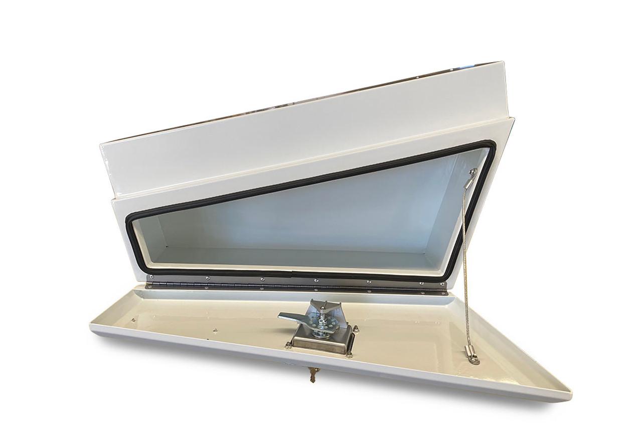 Underbody Steel Tapered Tool Box White RHS