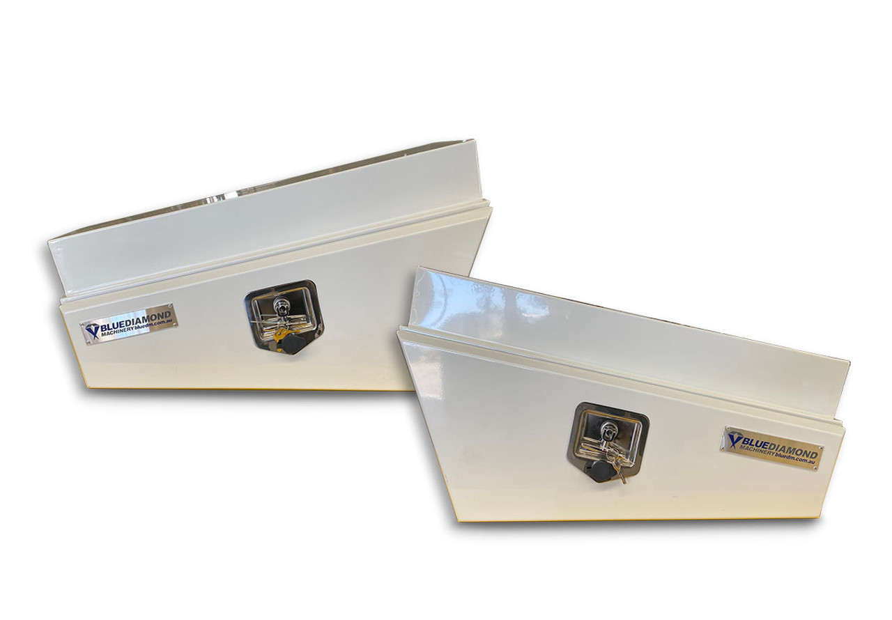 Underbody Steel Tapered White Tool Box Combo - RHS & LHS