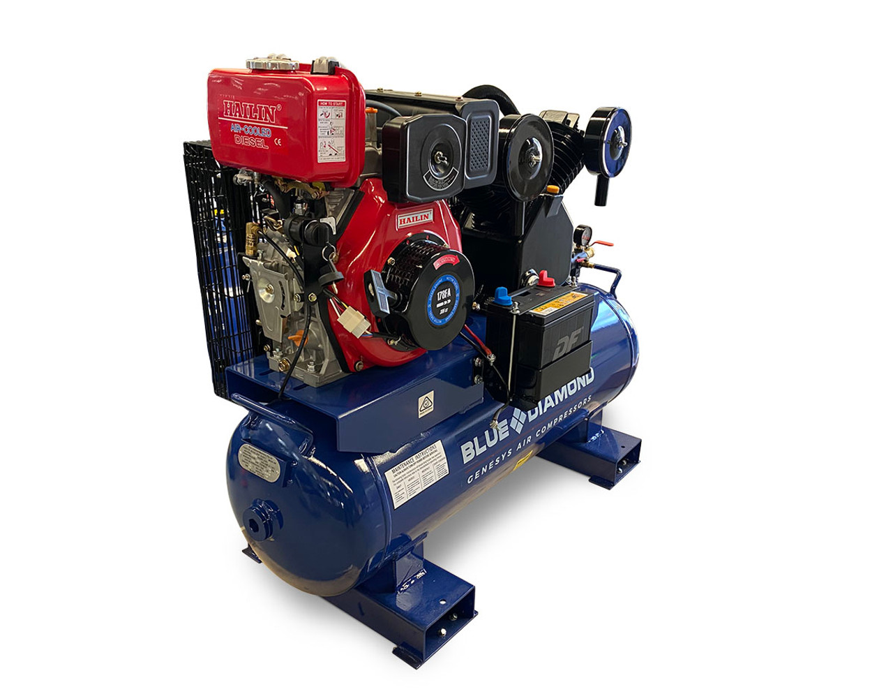 Piston Air Compressor- Diesel 7HP 20 CFM 100L 145 PSI