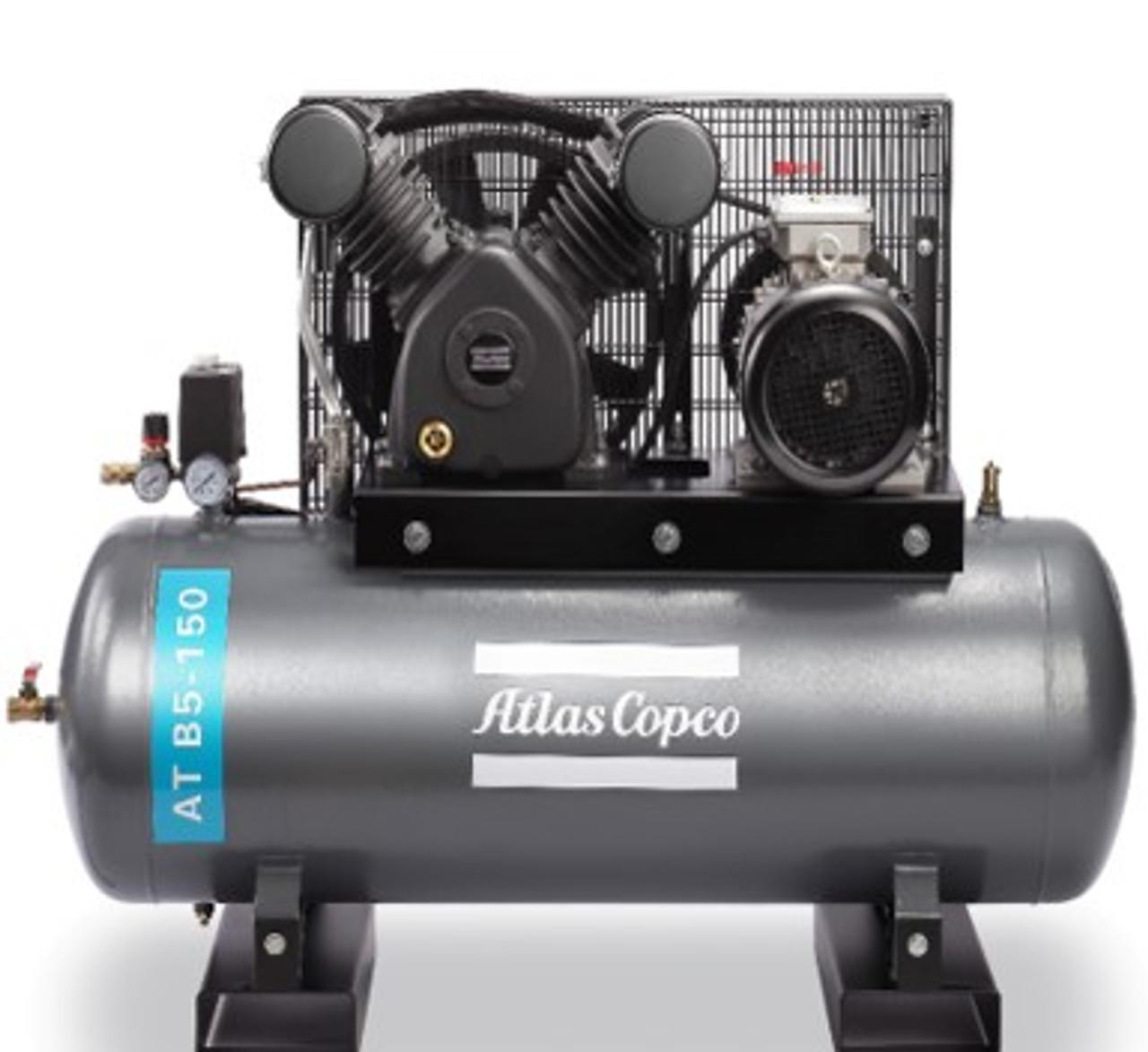 Atlas Copco Piston Air Compressor - 5.5HP, 25.4CFM, 150L