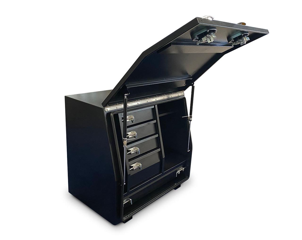 Black Steel Mine Series Tool Box with Drawers- W900