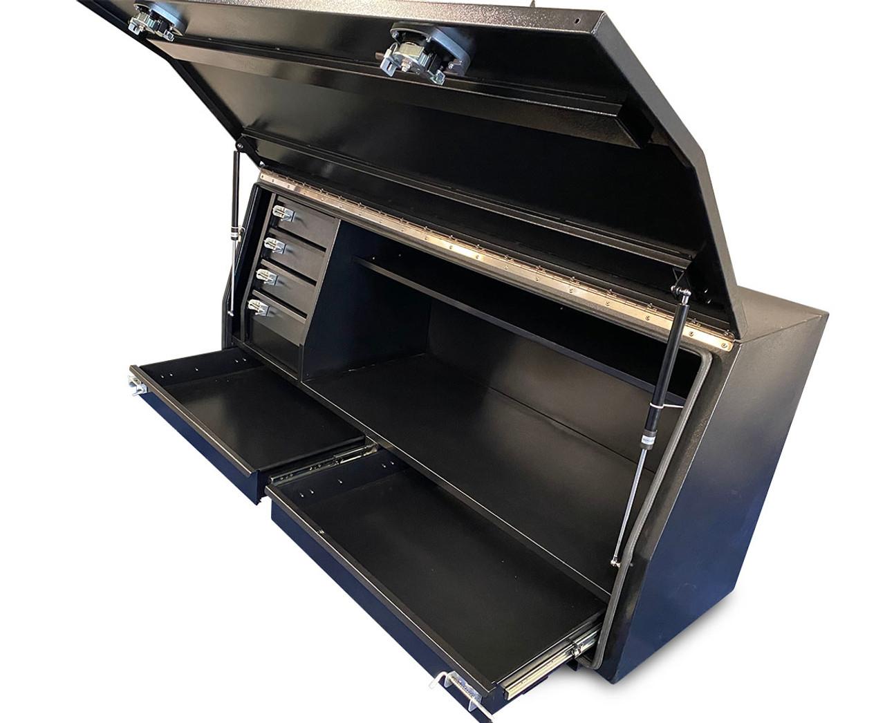 Black Steel Mine Series Tool Box with Drawers- W1800