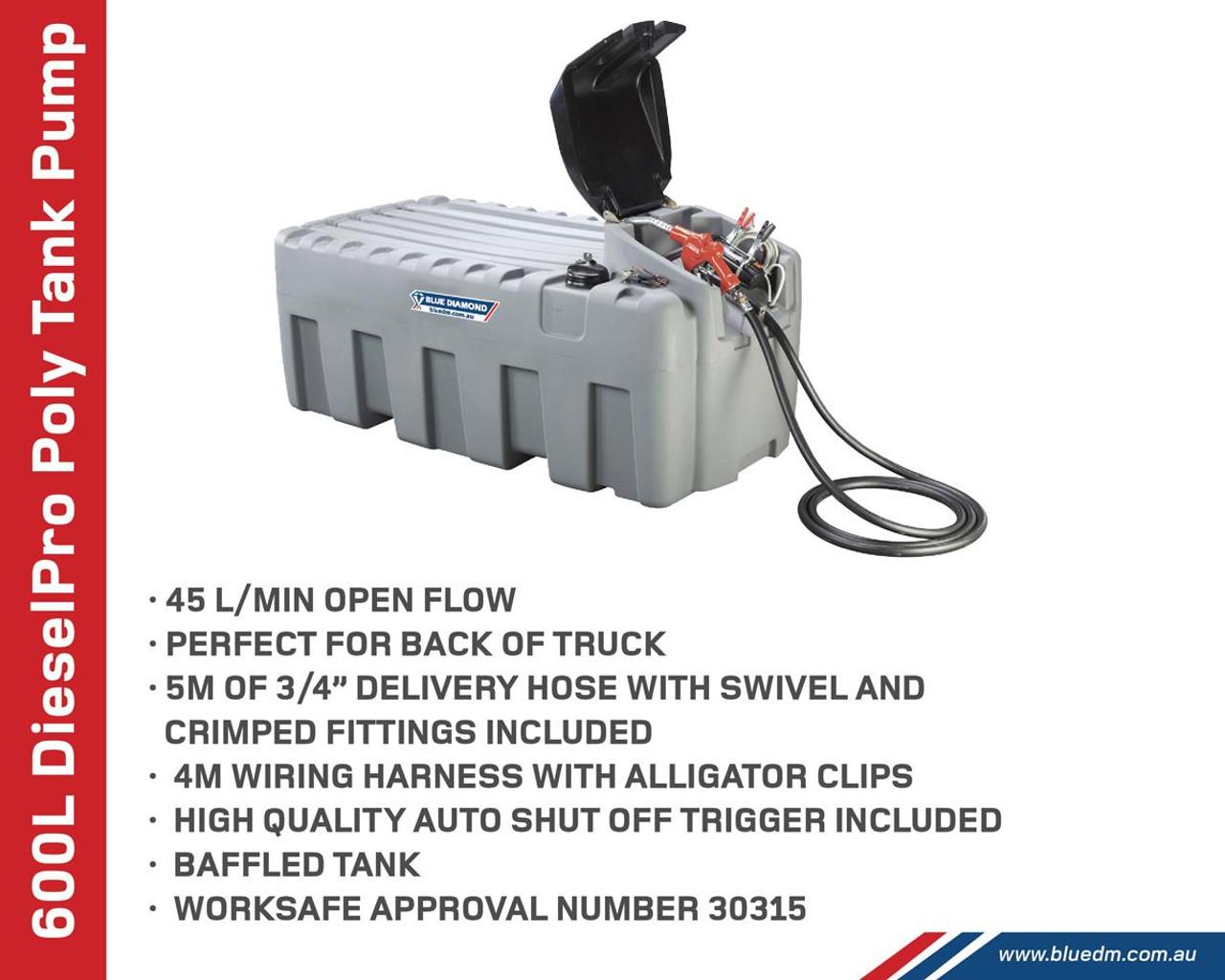 600L Diesel Fuel Tank for UTE or Truck