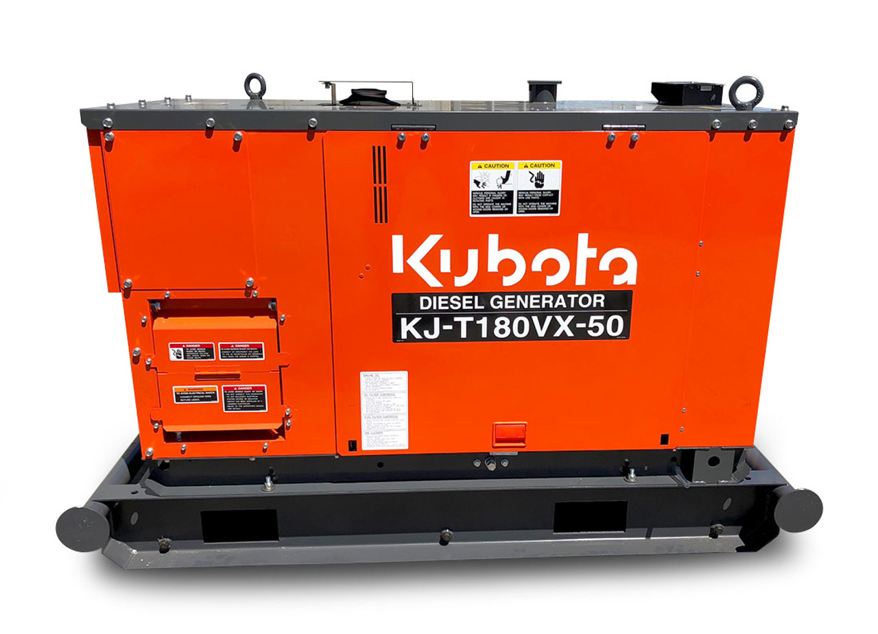 Kubota generators KJ series are quieter,  more efficient and reliable