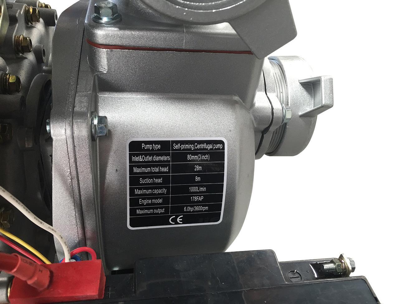 3'' Diesel Water Transfer Pump-6HP- Electric Start