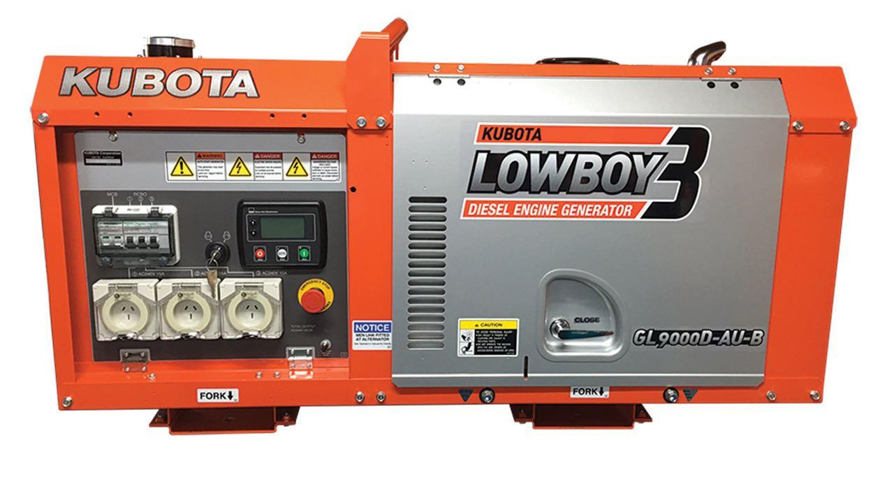 Kubota Lowboy GL9000 series is a two pole, silent type, single phased engine.