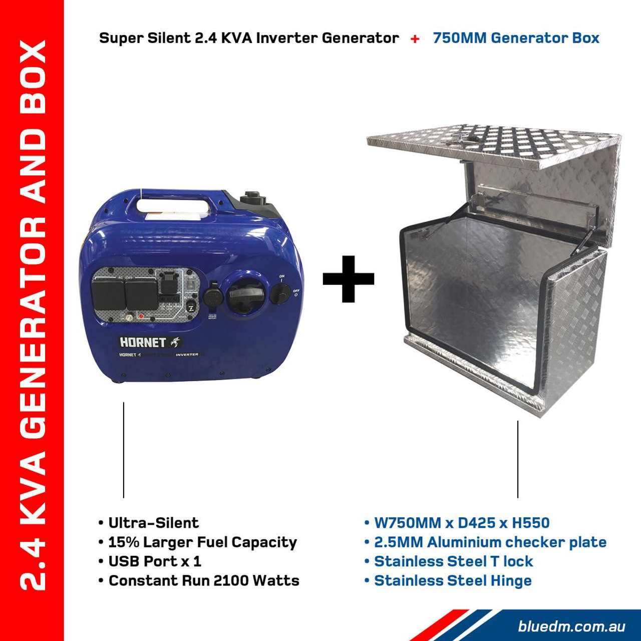 2.4KVA Inverter Generator Perfect for Camping, Outdoor Activities and Home Use