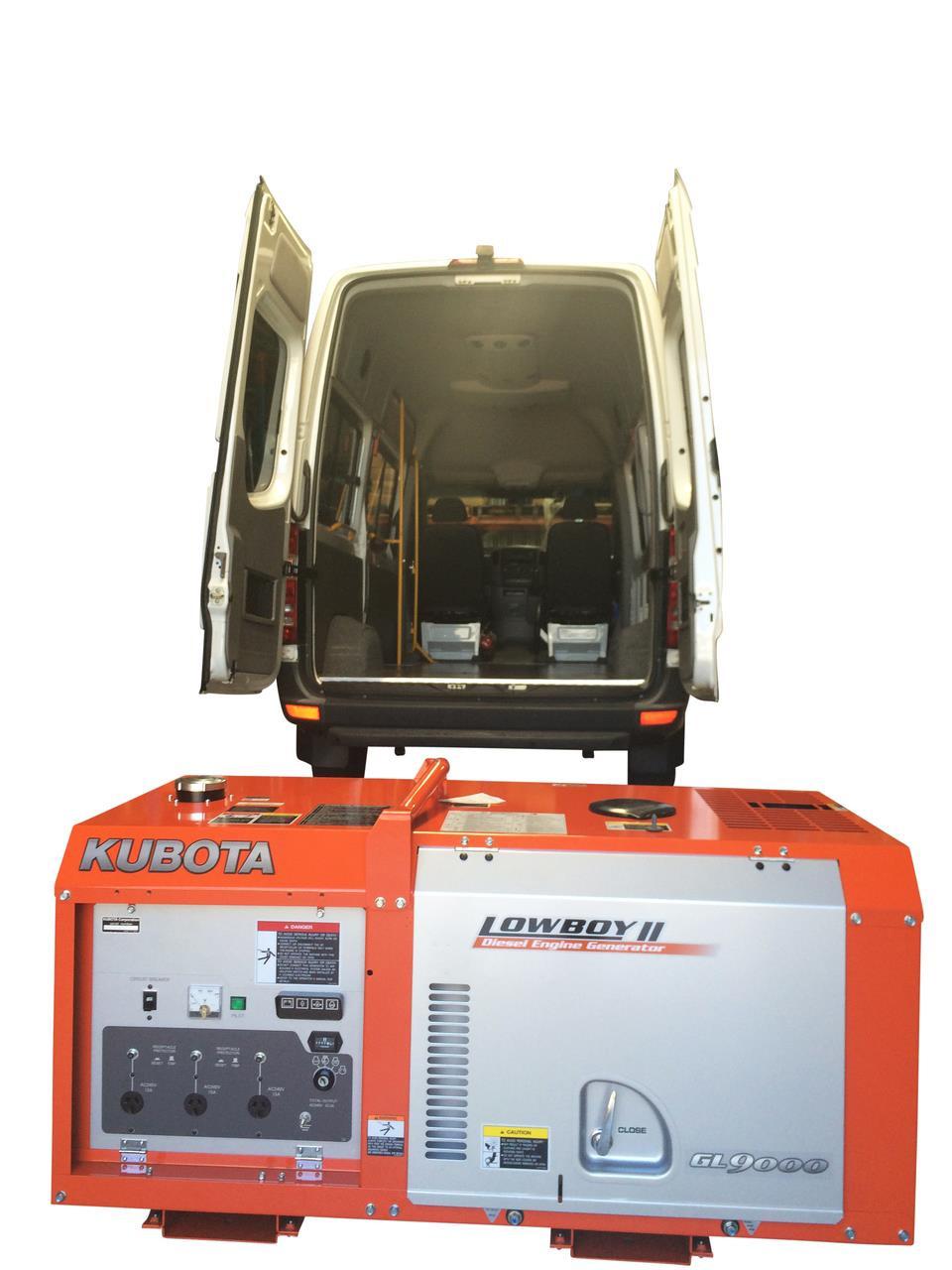 Kubota Generator for Mobile Food Van or Coffee Van Setup