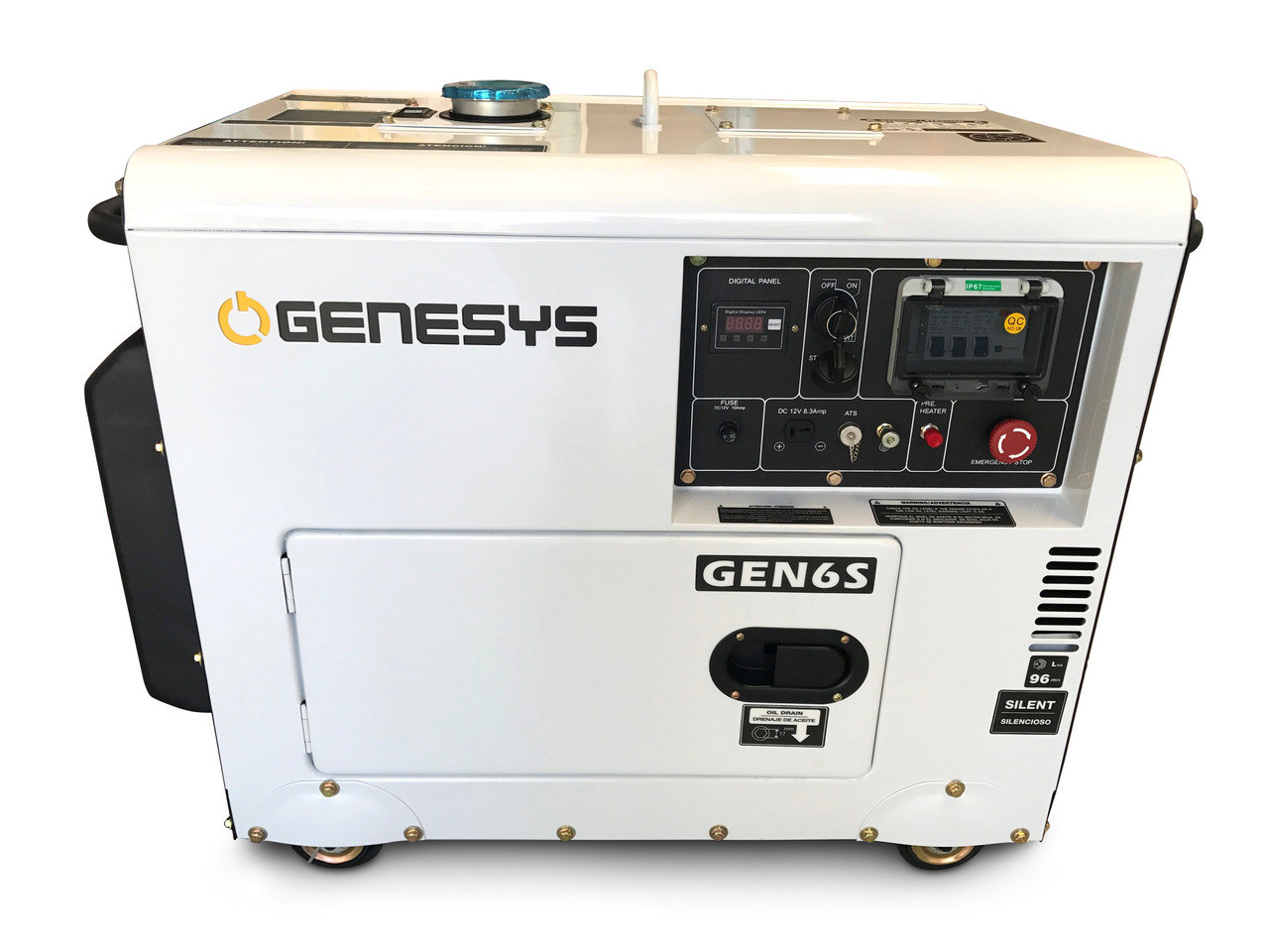 Portable diesel generator designed for trade who require reliable power source