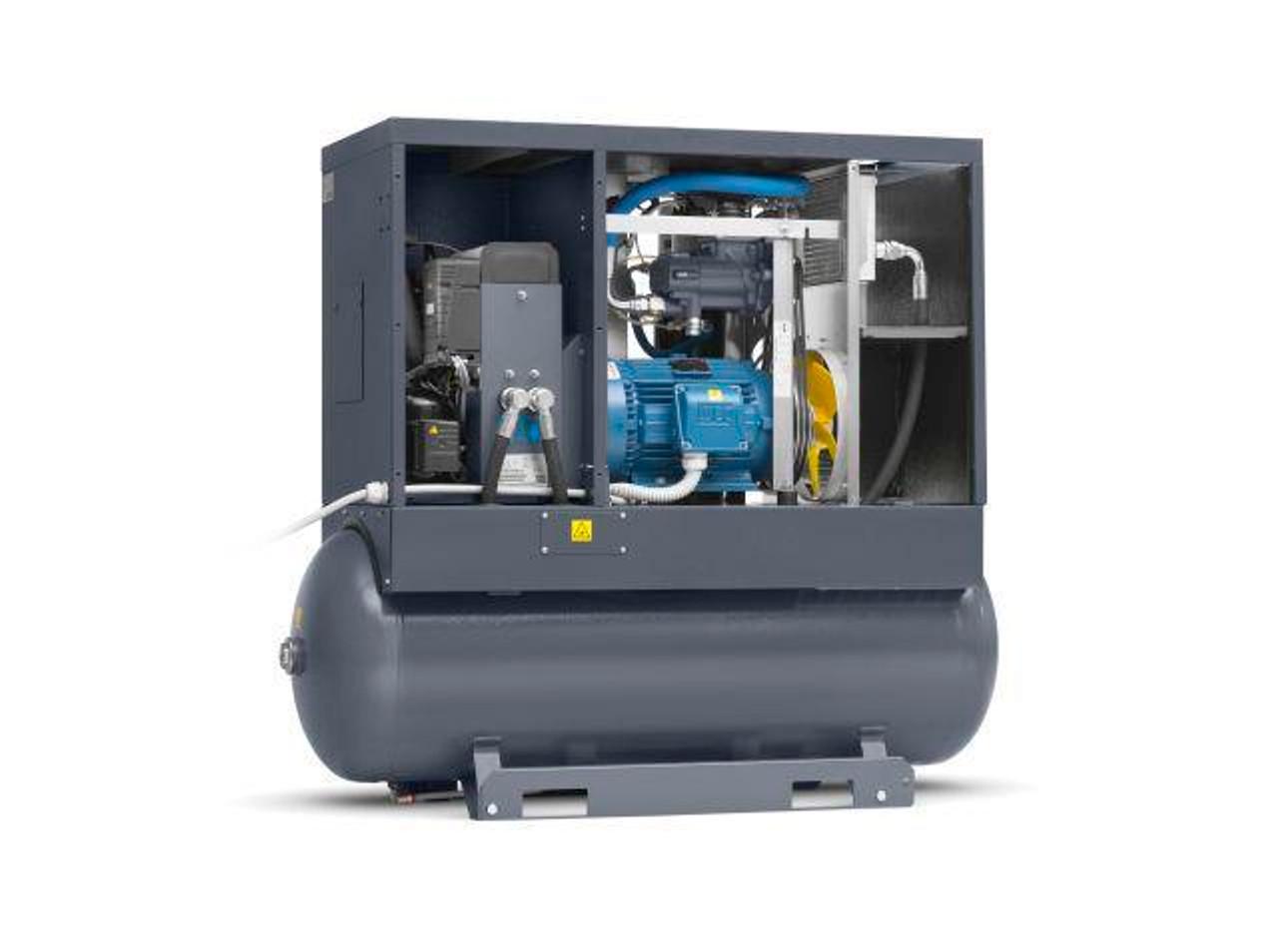 Screw Air Compressor 15PH, 51.5CFM, 145PSI, Tank Mounted
